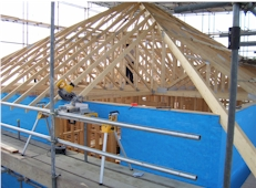 Roof trusses and scaffolding