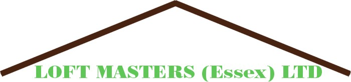 logo roof shape and text loft masters essex